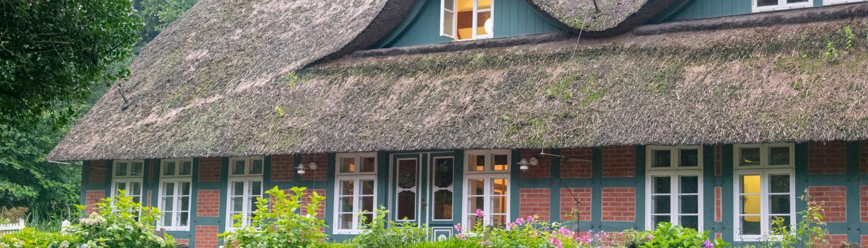 Das alte Bauernhaus ist heute Worpswedes Rathaus