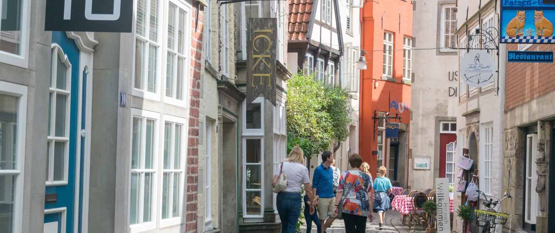 Bummeln im Schnoor, Bremens ältestem Viertel.