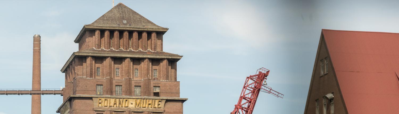 Die Rolandmühle ist gelungene Industriearchitektur in Bremen.
